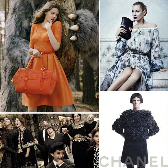 The Latest Autumn/Winter 2012 Campaigns — Chanel, Ferragamo, Mulberry & More