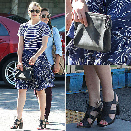 Dianna Agron Proves Two Prints Are Better Than One