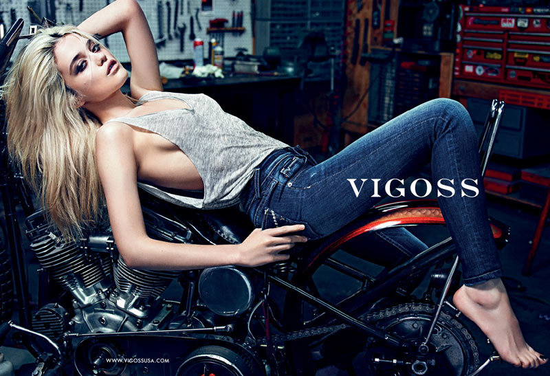 Sky Ferreira exudes a cool biker-chick edge in Vigoss's Fall ads.