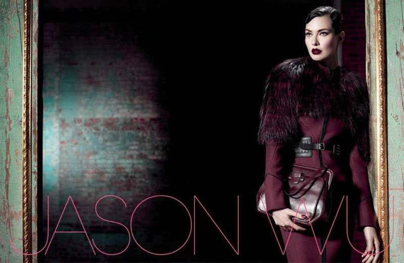 Shalom Harlow evokes an Old Hollywood-meets-military inspired feeling in Jason Wu's Fall ads.
