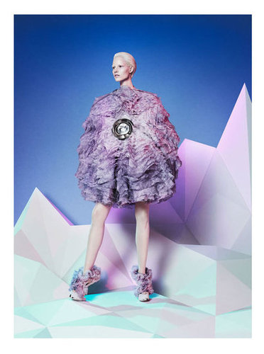 Alexander McQueen's Fall 2012 campaign played up a futuristic landscape and striking silhouettes.