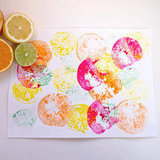 Fruit Print Crafts For Kids