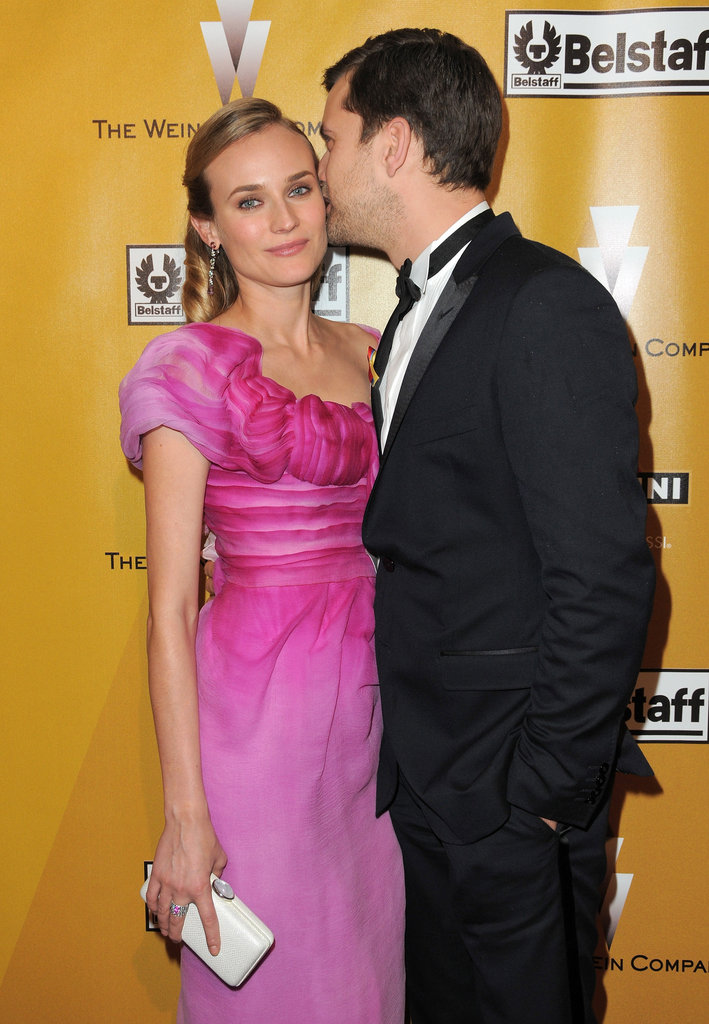 Joshua Jackson kissed Diane Kruger at a Golden Globe afterparty in LA in January 2010.