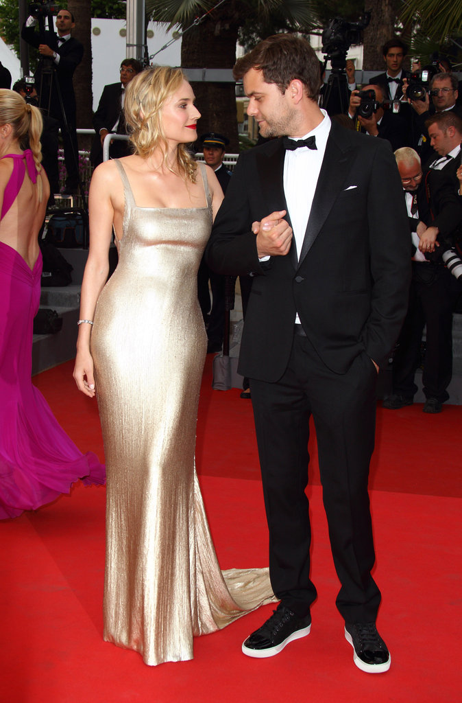 Diane Kruger and Joshua Jackson shared a loving look at the Sleeping Beauty Cannes premiere in May 2011.