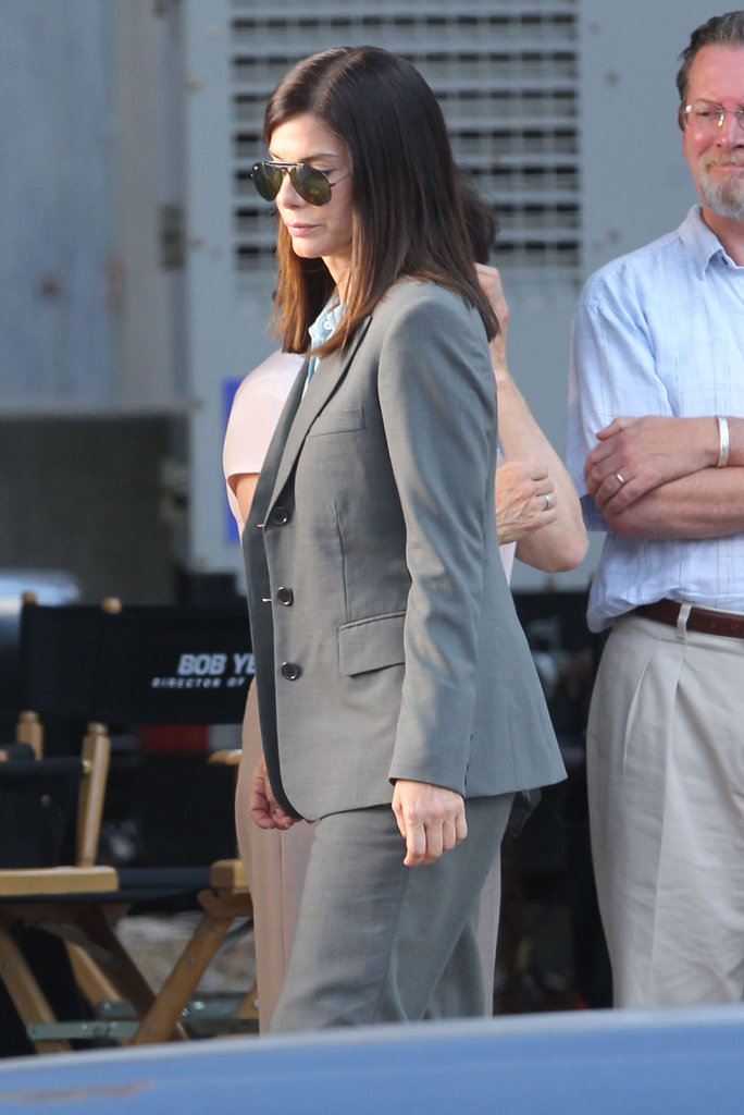 Sandra Bullock and Melissa McCarthy Buddy Up on Their Boston Set