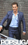 Matthew McConaughey headed for his car after leaving ITV Studios.