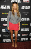 Charlotte Ronson wore a bright colored skirt to the Shut Up & Play the Hits screening in NYC.