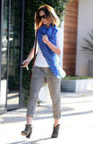 Emily Blunt wore a brightly colored scarf in West Hollywood.
