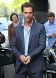 Matthew McConaughey was spotted in London.