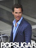 Matthew McConaughey looked handsome in blue and gray.