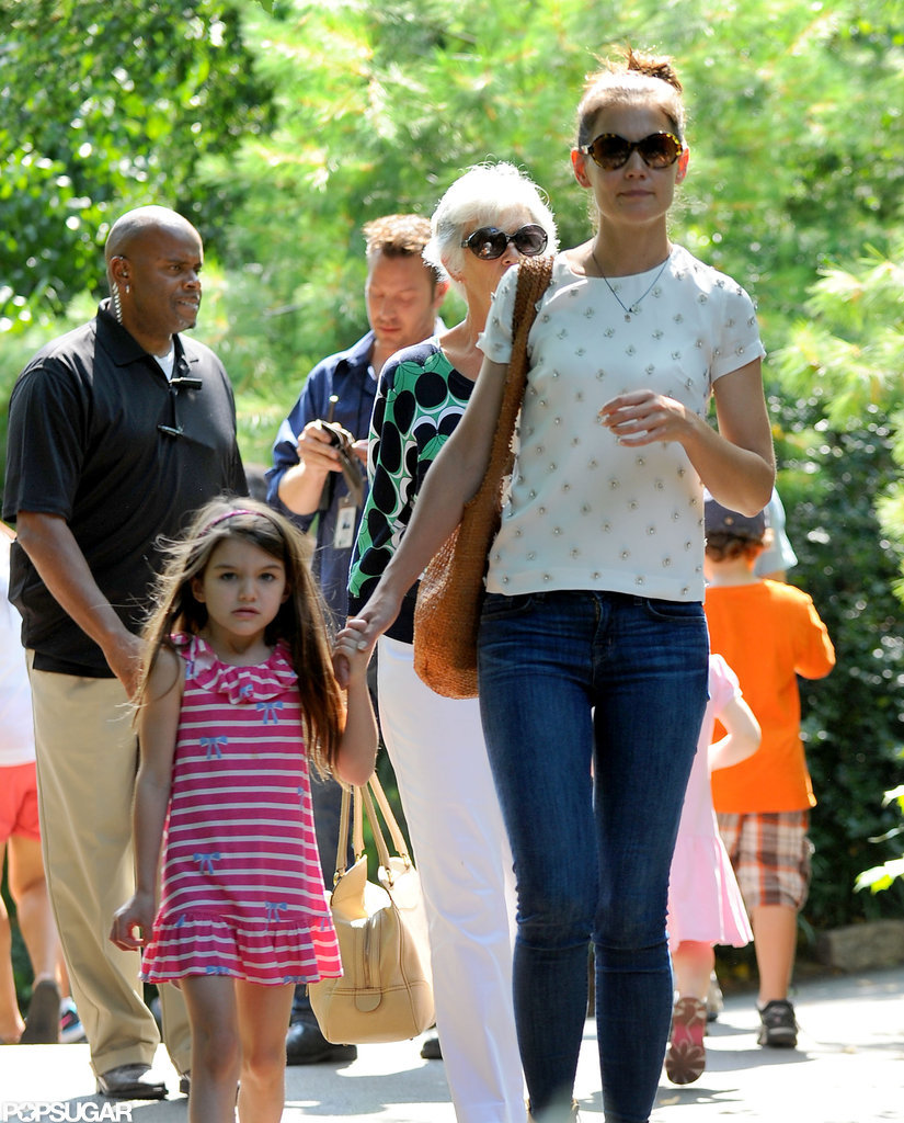 Katie Holmes and Suri Cruise walked together.