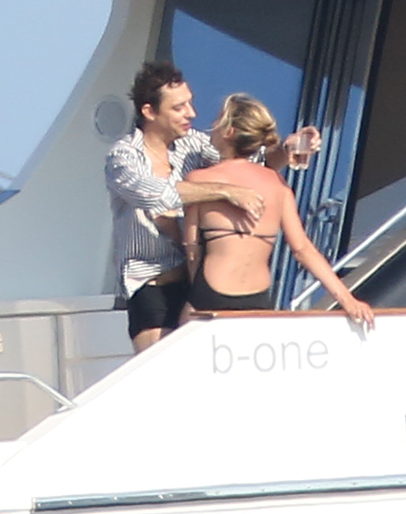 Kate Moss and Jamie Hince showed PDA.