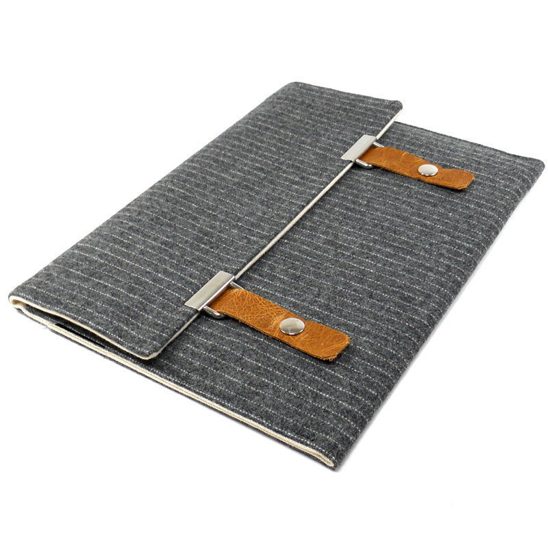 Gray Pinstripe Wool iPad Case ($75)