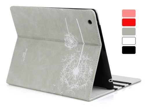 Sunvalleytek Leather Gray Dandelion iPad Stand/Case ($16)