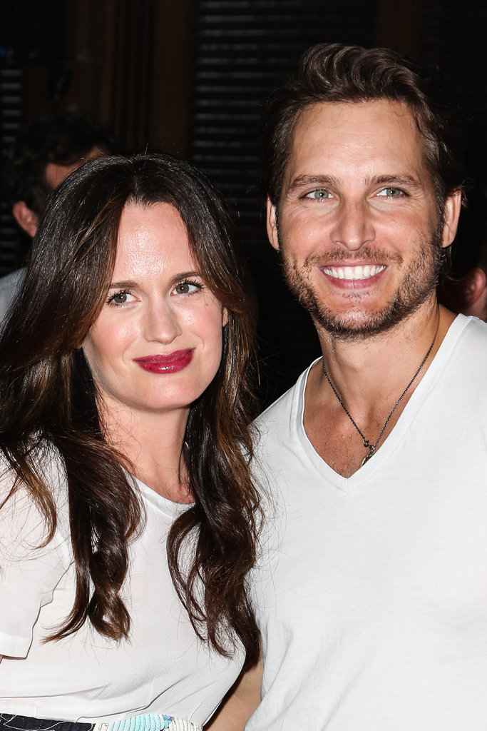 Peter Facinelli posed with Elizabeth Reaser at the Breaking Dawn Part 2 party at Comic-Con.