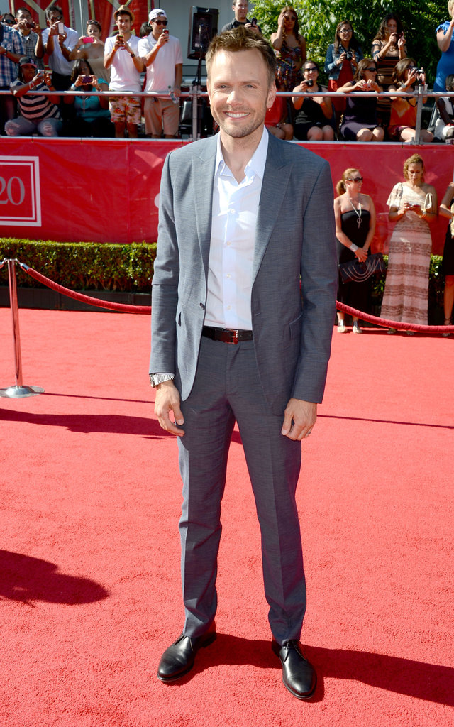 Joel McHale posed on the red carpet at the ESPY Awards.