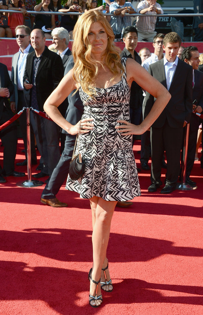 Connie Britton wore a patterned dress to the ESPY Awards.