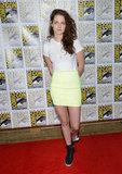 Kristen Stewart wore Barbara Bui sneakers.
