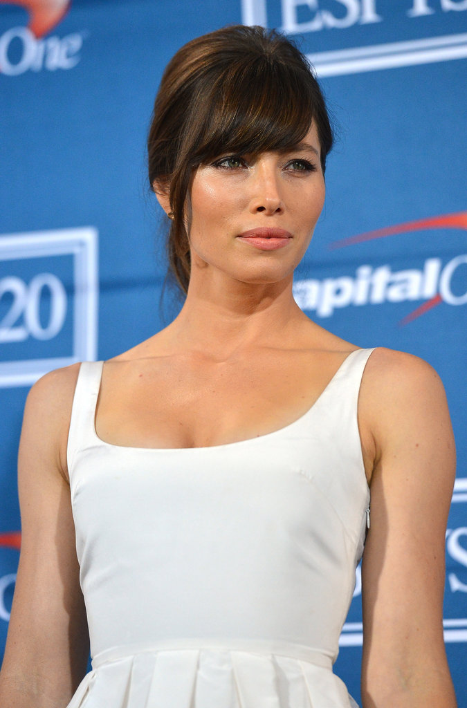 Jessica Biel wore her hair up at the ESPY Awards.