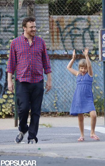 Jason Segel and Matilda Ledger hung out in Brooklyn.