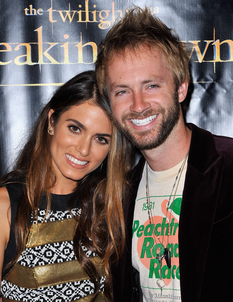 Nikki Reed posed with husband Paul McDonald posed together at the Breaking Dawn Part 2 party at Comic-Con.