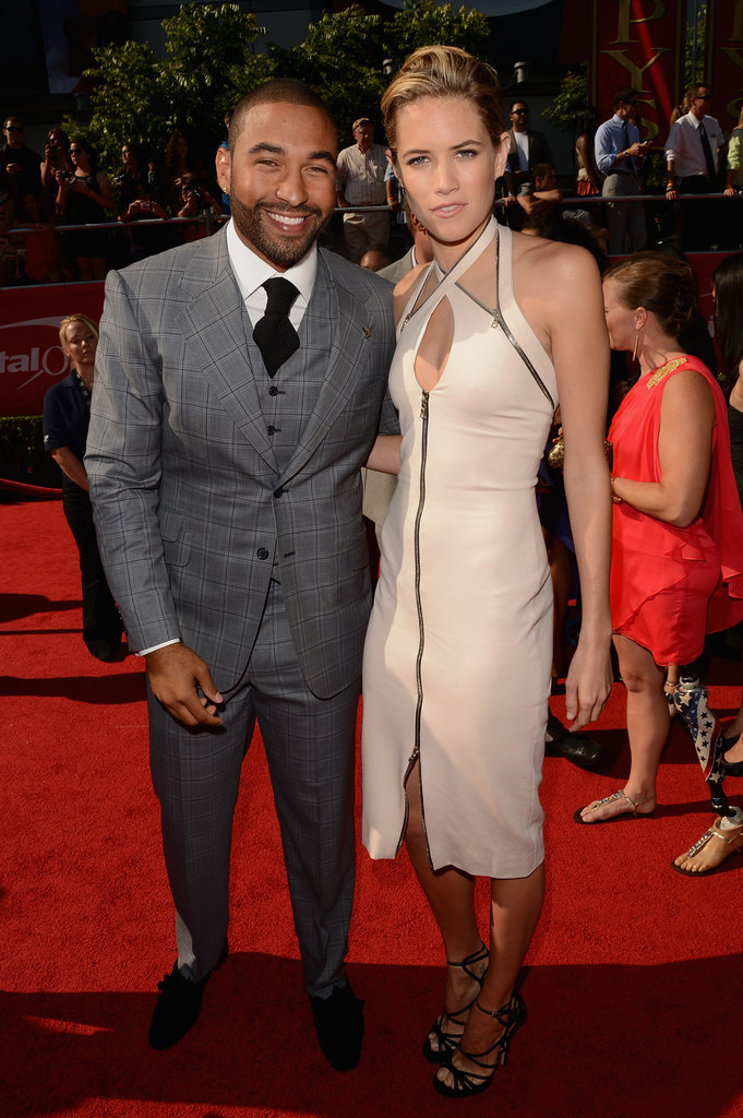 Matt Kemp smiled for a red carpet photo with Cody Horn.