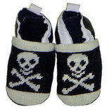 By Paige Jolly Roger Needlepoint Baby Shoes ($56)