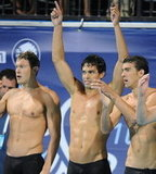 Peter Vanderkaay, Ricky Berens, and Michael Phelps