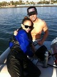 Jennifer Lopez and Casper Smart went wakeboarding together. Source: Twitter user BEAUcasperSMART