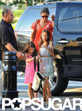 Katie Holmes and Suri Cruise stepped out of the car at Chelsea Piers in NYC.