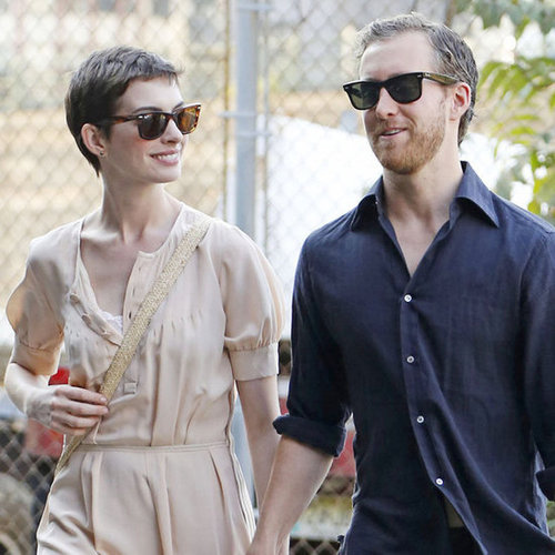 Anne Hathaway in NYC With Her Fiance