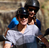 George Clooney and Stacy Keibler in Switzerland