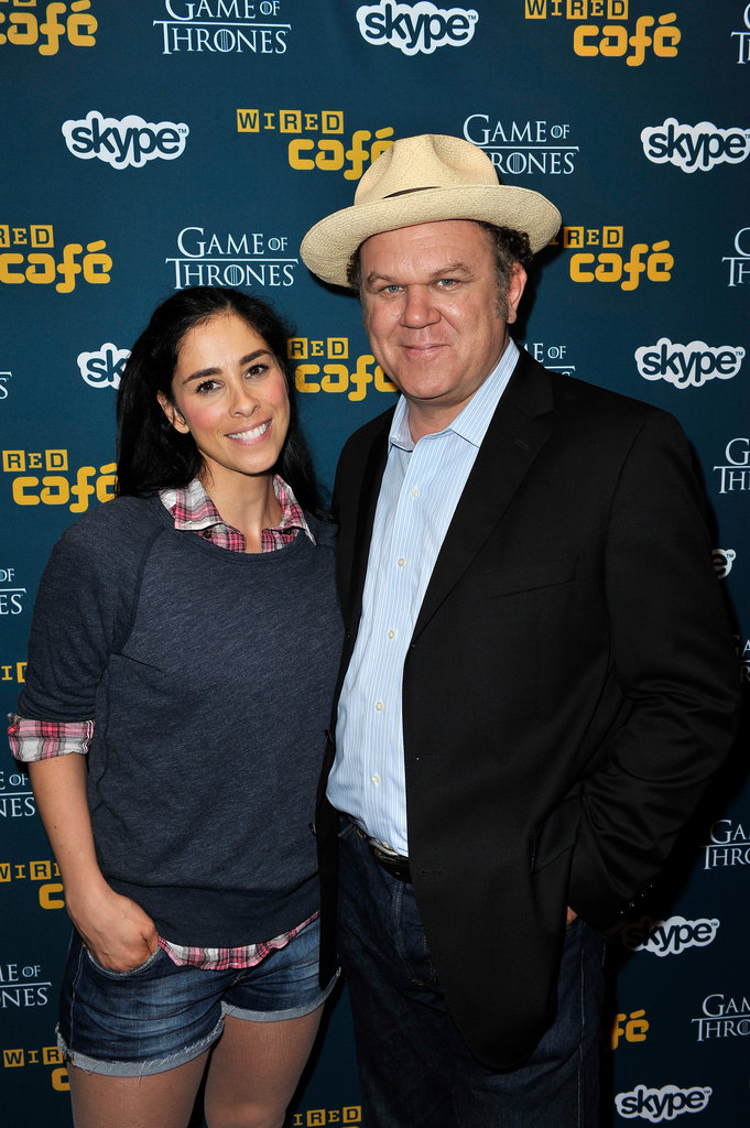 Sarah Silverman and John C. Reilly posed at Comic-Con.
