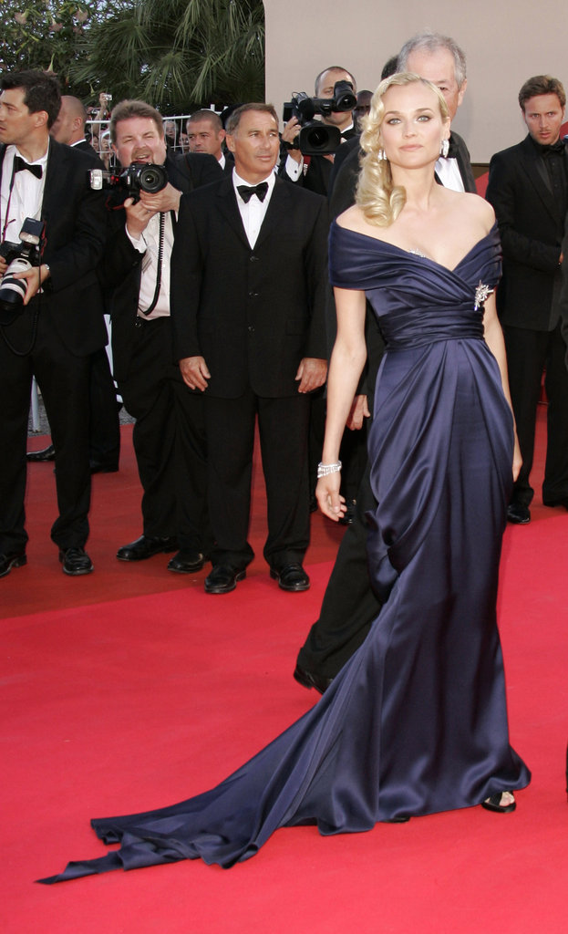 This sophisticated navy-blue gown was made especially for Diane by her good friend Karl Lagerfeld — needless to say, she stunned at the 2007 Palme d'Or Awards closing ceremony.
