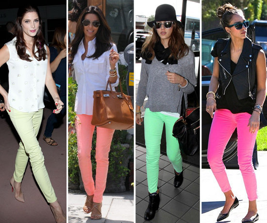 Update your skinnies with a neon twist.