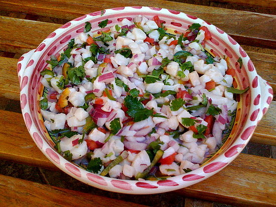 This scallop ceviche recipe from OnSugar blogger Sophie's Sweeties is a healthy way to cool down in the Summer heat. No need to turn the stove on: the acidity of the limes is enough to cook the raw scallops.