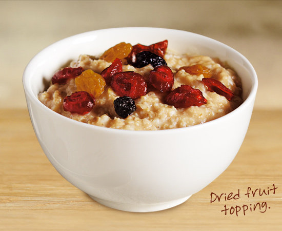 Fruit Topped Maple Flavored Quaker Oatmeal