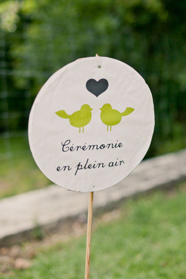 French Signage Photo by Mademoiselle Fiona Wedding Photography via Style Me Pretty