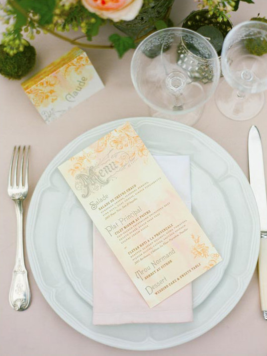 French Menu Photo by Corbin Gurkin via 100 Layer Cake