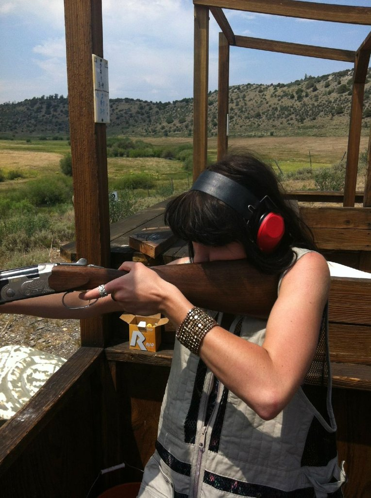 Kimbra shot a gun for the first time in Colorado. Source: Twitter user kimbramusic