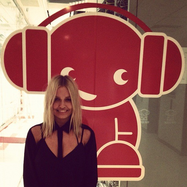 Lara Bingle did a co-hosting session with Nova 969 on Wednesday night. Source: Instagram user mslarabingle