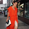 Katie Holmes Bright Orange Dress Pictures