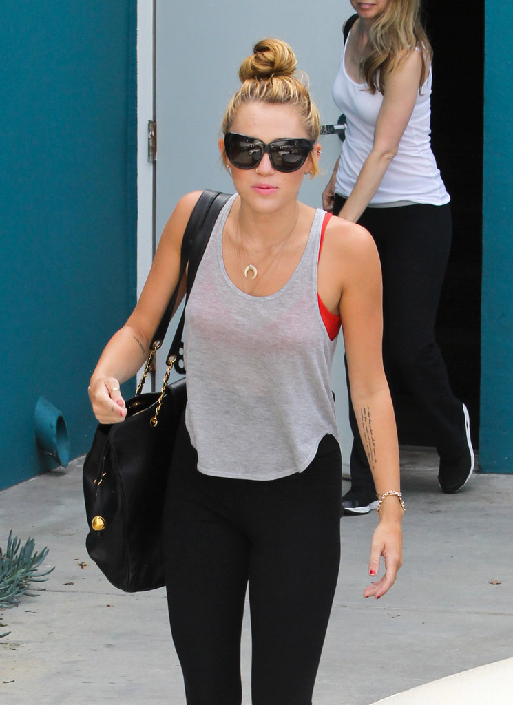 Miley Cyrus worked out.