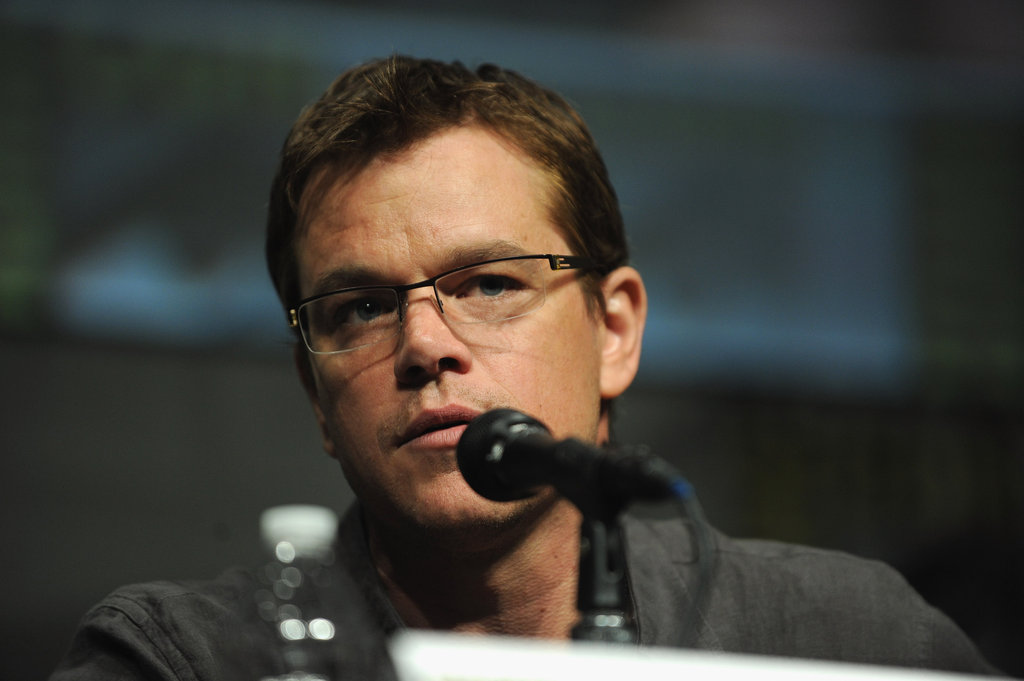Matt Damon at Comic-Con.