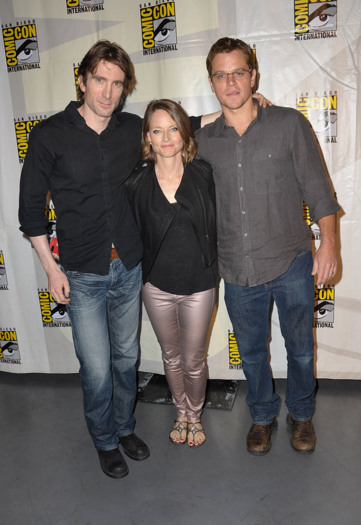 Sharlto Copley, Jodie Foster, and Matt Damon at Comic-Con.