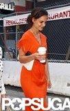 Katie Holmes got coffee.