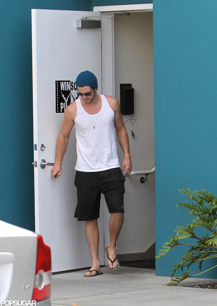 Liam Hemsworth went to Pilates.