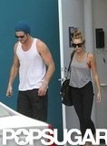 Miley Cyrus and Liam Hemsworth in LA.