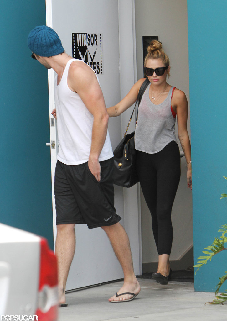 Miley Cyrus and Liam Hemsworth worked out together.
