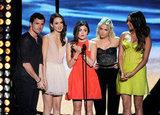 Ian Harding, Troian Bellisario, Lucy Hale, Ashley Benson, and Shay Mitchell